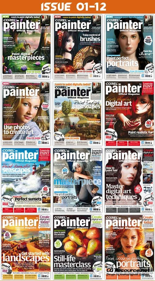 Corel Painter Official Magazine Issue 1-12.