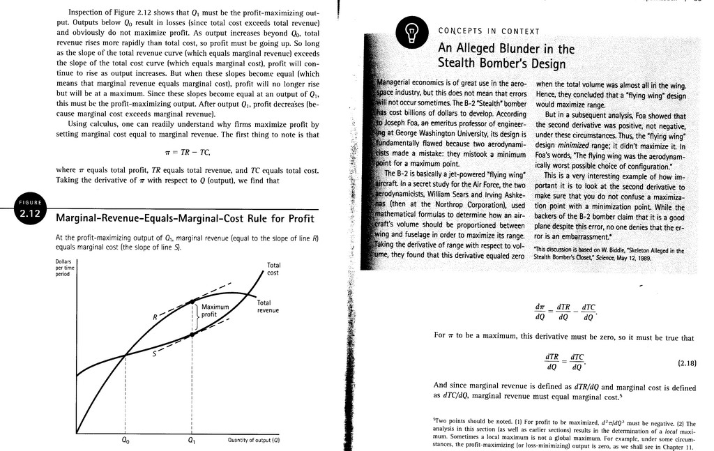 explain how a profit maximizing firm determines its optimal level of output using marginal revenue a