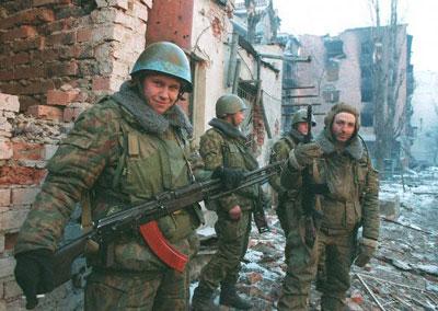 на улицах Грозного. Январь 1995 года