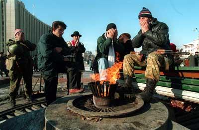 У Вечного Огня в Грозном