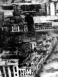 Январь 1995. Совмин и прилегающий квартал. Вдали - ГНИ
