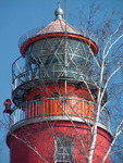 Верхушка маяка крупным планом