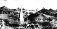 Петропавловск, памятник капитану Чарльзу Клерку и Д. Кройеру, XIX век.