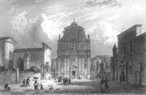Фасад церкви St. Bruno в XVIII веке.