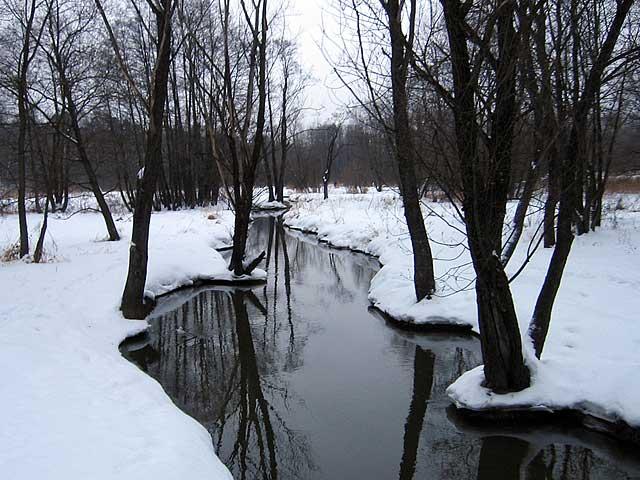 Река Серебрянка в Измайловском парке