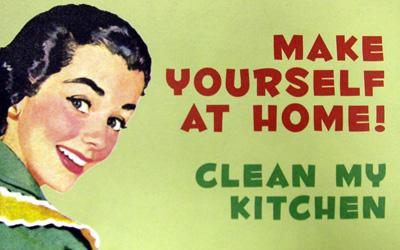 Почувствуй себя, как дома! Вымой мою кухню