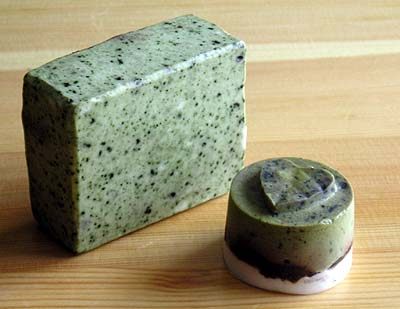 самодельное мыло со спирулиной
