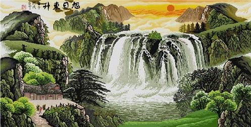 Схема для вышивки - водопад