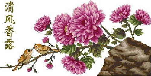 Схема для вышивки - цветы