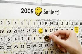 Стильный подарок: календарь настроений с наклейками