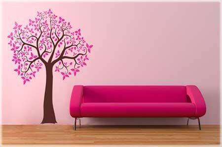 Наклейка на стену - дерево