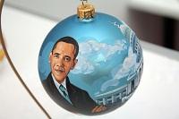 Елочный шарик с портретом Обамы