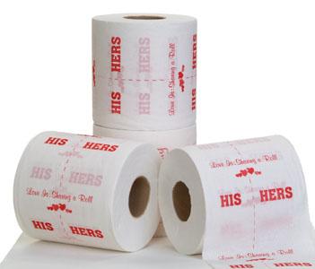 Необычная туалетная бумага для двоих