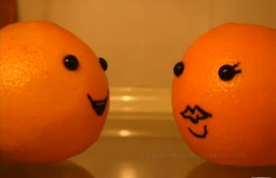 Апельсины с мордочками