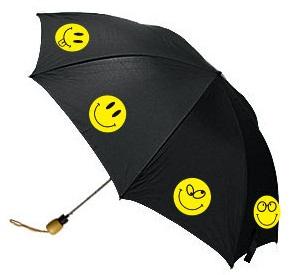 Зонт со смайлами