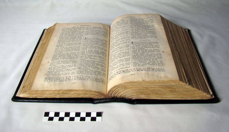 БИБЛIЯ ИЛИ КНИГИ СВЯЩЕННАГО ПИСАНIЯ ВЕТХАГО И НОВАГО ЗАВЕТА ВЪ РУССКОМ ПЕРЕВОДЕ СЪ ПАРАЛЛЕЛЬНЫМИ МЕСТАМИ ИЗДАНИЕ ДЕСЯТОЕ САНКТПЕТЕРБУРГЪ СVНОДАЛЬНАЯ ТИПОГРАФIЯ 1912