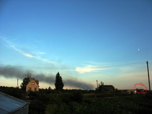 Новополоцк в дыму