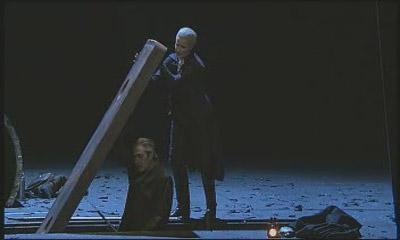 Рокко и Леонора/Фиделио копают могилу для безымянного узника