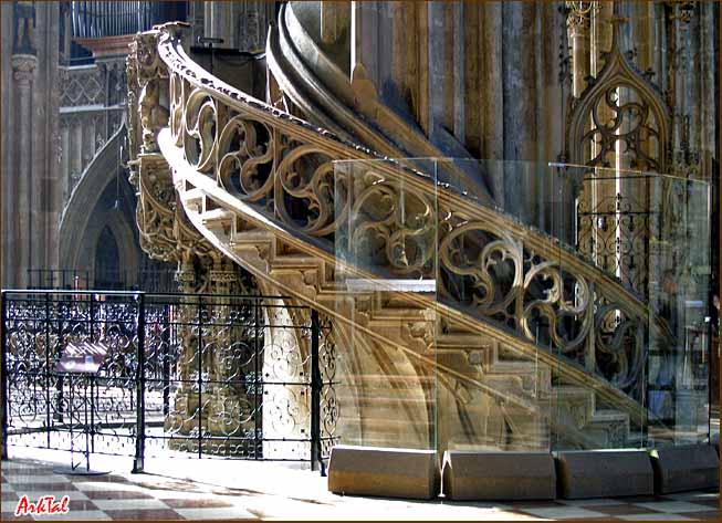 Винтовая лестница на кафедру в соборе Св. Стефана