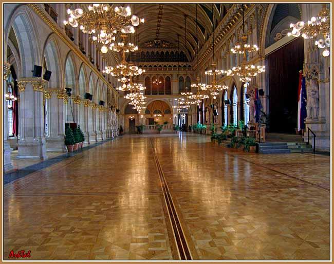 Венская Ратуша.Парадный зал.