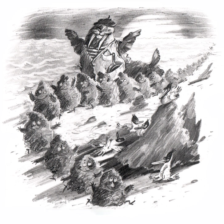 Они в нарядных башмачках выходят на песок