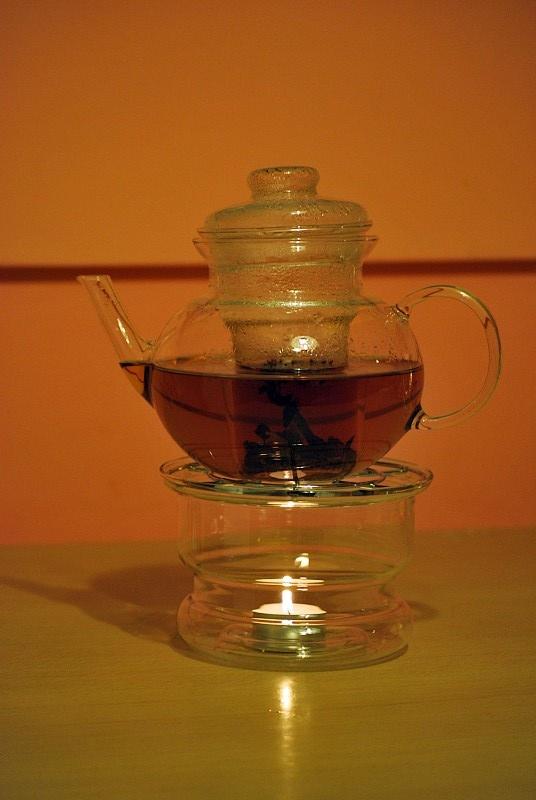 Полностью стеклянный чайник