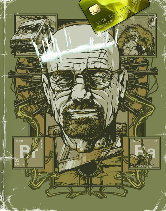 tribute to Breaking Bad TV-series for GQ Russia