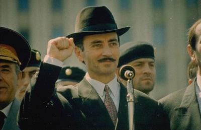 На параде 94-го года в Грозном
