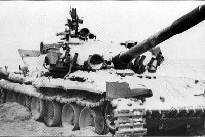 Танк 133-го отб, подбитый у трампарка