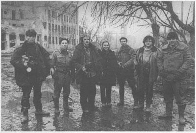 Журналисты 4-го канала в Грозном