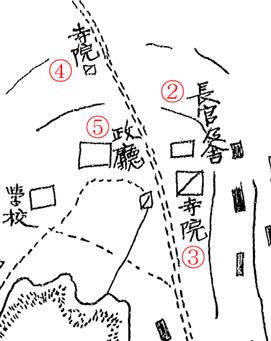 ペトロパブロスク之圖. Карта Петропавловска 1(2). Надписи 2–5