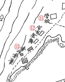 ペトロパブロスク之圖. Карта Петропавловска 1(4). Надписи 11–13
