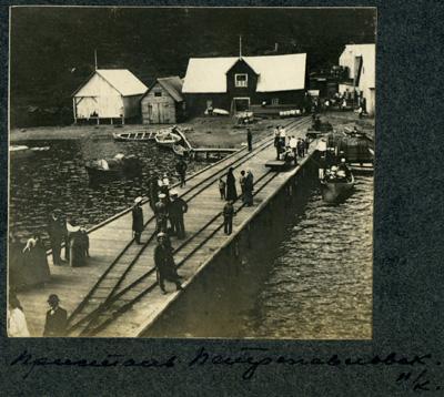 Петропавловск. Фото на портовые сооружения. 1910-е гг.