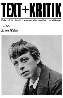 Фотография Роберта Вальзера на обложке журнала «Text und Kritik»
