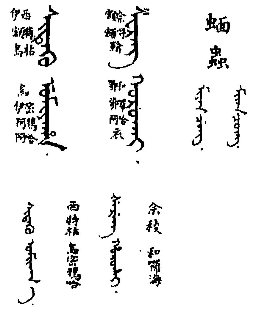 御製滿珠蒙古漢字三合切音清文鑑 (四庫全書版) 31-61a