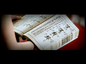 Japanese blockprint on Sash! Ganbareh video