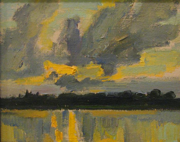 Алексей Суховецкий. Закат на озере