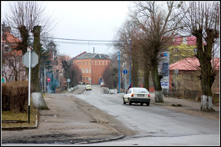 Перекресток в Багратионовске