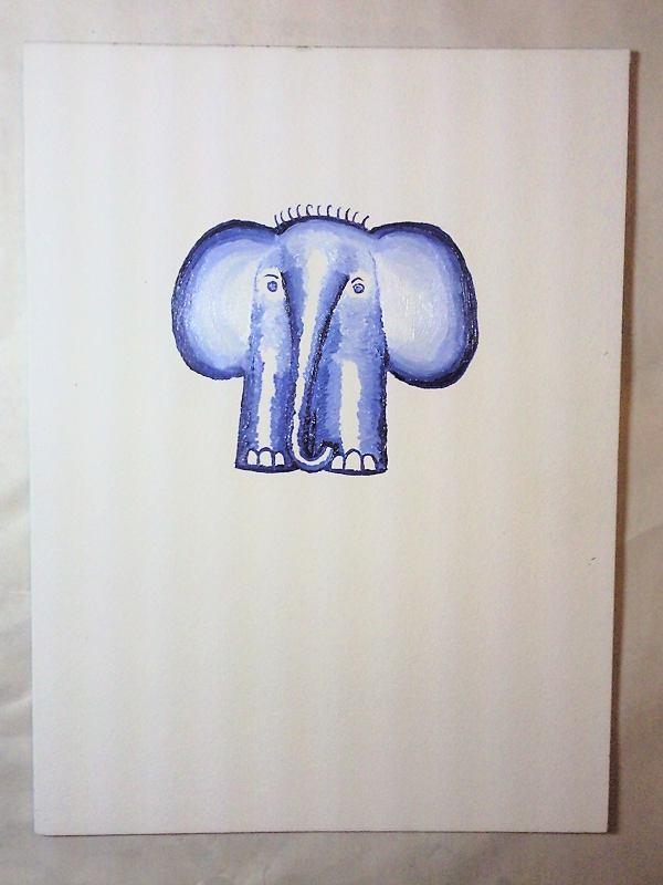 Голубой слон. Незавершённая работа.
