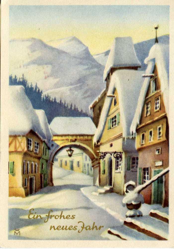 Днем, открытка к новом году на немецкому