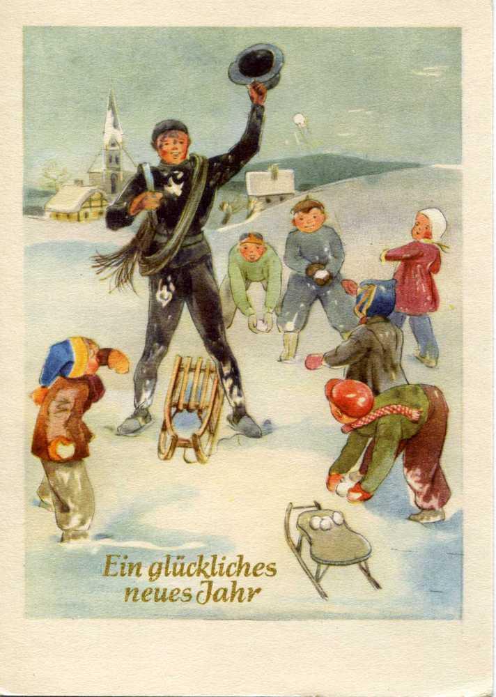 Немецкие старые новогодние открытки