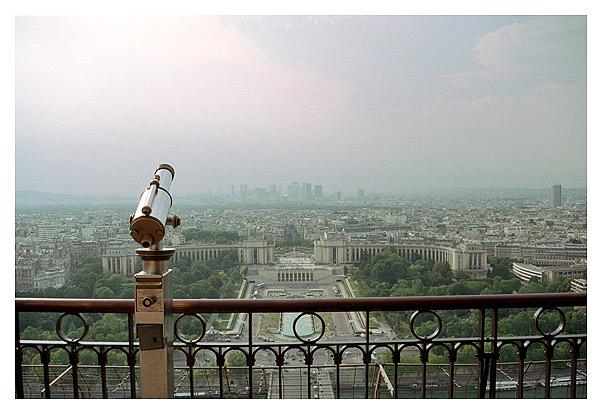 Вид на Шайо с Эйфелевой башни