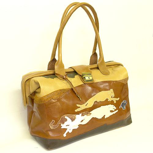 Женские кожаные сумки саквояжи