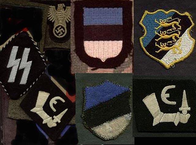 знаки и шевроны 20 эстонской пехотной дивизии СС