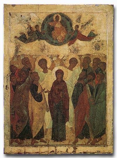 Андрей Рублев. Вознесение Господне. 1408 г.