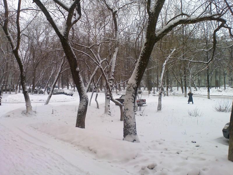 Пермь. Снегопад в апреле
