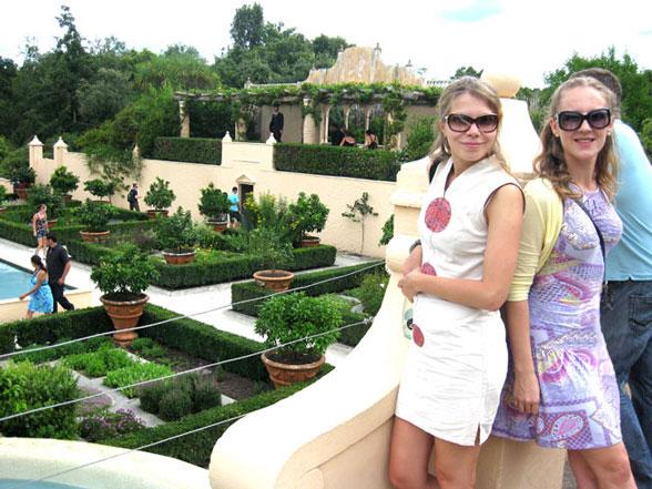 Я и Юля в Hamilton Gardens