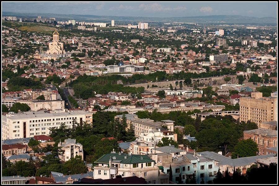 Вид на Тбилиси с Пантеона