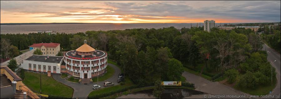 Панорама Онежского озера