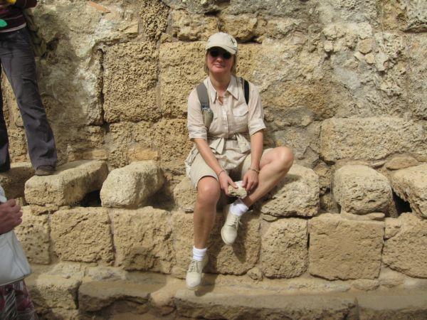 римский туалет в Кейсарии